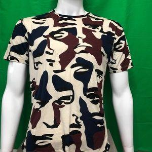 "Zara Men's ""Faces Camouflage"" T-Shirt"